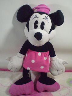"""Walt Disney Nostalgia Minnie Mouse 17"""" inch Pink Plush  #WaltDisney"""