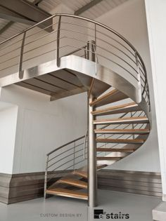 Stainless Steel Spiral Staircase With Bamboo Treads From EeStairs