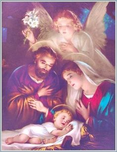 """the birth of Jesus ❤️ Words by St. John Vianney """"Dear parents, I implore you to imitate the Holy Family of Nazareth. Religious Pictures, Religious Art, Vintage Christmas Cards, Christmas Images, Christmas Nativity, Christmas Art, Christmas Night, True Meaning Of Christmas, Birth Of Jesus"""