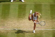 Dominika Cibulkova takes on Elena Vesnina on No.1 Court.
