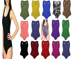 Pure Fashion Womens Stretchy Sleeveless Ladies Muscle Racer Back Leotard Bodysuit Vest Top