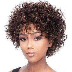 Short Kinky Curly Wig Real Human Hair Afro Curly Wigs Natural Looking For Women