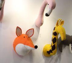 2016 Mini animais cabeça de pelúcia brinquedo Flamingo girafa Fox Elephant  Zebra brinquedo Kids quarto decoração 9a6eb7dd13fdd