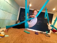 Aerial Yoga for Kids & Families! Sensory Education. Yoga Hammocks with online demonstrations. Where mind & body meets neuroscience and FUN!