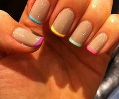 Cute! I would use OPI's Bubble Bath or something like it for the base though
