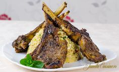 Cotlete de berbecut cu bulgur – reteta video Couscous, Food Videos, Carne, Steak, Pork, Recipes, Youtube, Honey, Bulgur