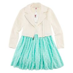 Knit Works Moto Jacket, Skater Dress and Necklace Set – Girls 7-16  found at @JCPenney