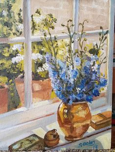 #art #painting #flowers #window #impressionist #fineart What Do You See, Impressionist, Create Yourself, Etsy Seller, Windows, Painting Flowers, Fine Art, Creative, Window