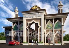 Hasil gambar untuk potongan masjid satu lantai Mosque Architecture, Interior Design Dubai, Door Gate Design, Beautiful Mosques, Classic Architecture, World's Most Beautiful, Exterior Design, Taj Mahal, House Design