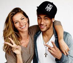 Gisele Bündchen e Neymar posam juntos pela primeira vez – e para a Vogue Brasil