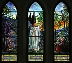 "Tiffany Studios | Frederick Wilson, designer | ""Resurrection,"" Brydon Memorial Window, before 1910 