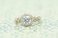 Wilson Diamonds: Ring Style Number R5544E #vintagering #yellowgold