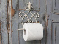 Chic Antique, Toilettenpapierhalter, Metall, Antikweiß, Shabby, Vintage, Krone,