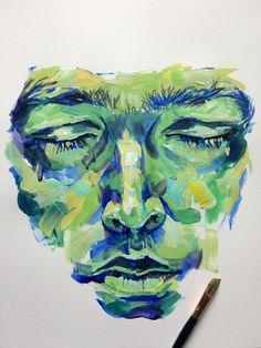 Noel Badges Pugh — recent acrylics Pretty Art, Cute Art, Gcse Art Sketchbook, Art Hoe, Art Drawings Sketches, Portrait Art, Aesthetic Art, Painting & Drawing, Painting Lessons