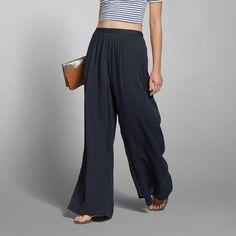Womens Drapey Wrap Palazzo Pants | Womens Pants | Abercrombie.com