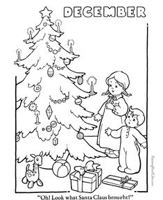 """Winter Coloring Page 003 FREE 