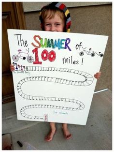 Bike Challenge for kids - 100 miles in 1 summer - www.thegoodstuffguide.com
