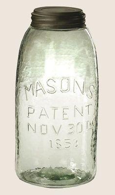 Antique Bottles, Vintage Bottles, Bottles And Jars, Glass Bottles, Antique Glassware, Ball Mason Jars, Mason Jar Diy, Mason Jar Crafts, Half Gallon Mason Jars