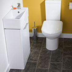 Cubix Compact White Vanity Unit - Image 4