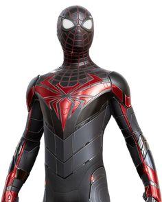 Superhero Suits, Spiderman Suits, Superhero Characters, Spiderman Art, Amazing Spiderman, Iron Spider Suit, Captain America Toys, Miles Morales Spiderman, Iron Man Avengers