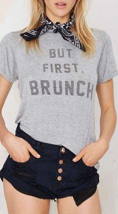 But first, brunch.