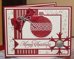 Stampin Up Ornament Keepsakes and More Merry Messages.