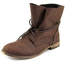 r.b.l.s. R.b.l.s. Rana Women Round Toe Synthetic Brown Ankle Boot.