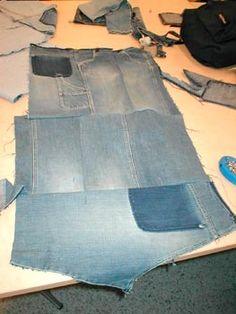 Tekninen työ - Lehtikeräysteline Old Jeans, Button Up Shirts, Recycling, Crafts, Teaching, Love, Manualidades, Handmade Crafts, Education