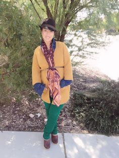 Natasha over at Fashionalities looks oh so comfy chic in Lands' End Canvas chinos, scarf and sweater! #CanvasChinos