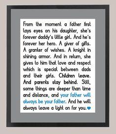 Wonder Year's Daddy's Girl Quote 11 x 14 by CadburysKeepsakes, $22.00