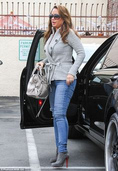 Svelte: Leah Remini showed off her remarkably slimmed down figure as she arrived at the DWTS studio in Los Angeles on Saturday