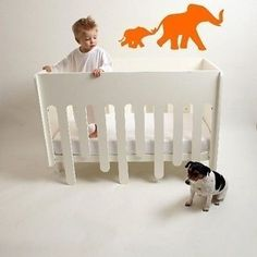 """Mom and Baby Elephant 24"""" Wide by 10.5"""" High Vinyl Wall Decal Sticker"""