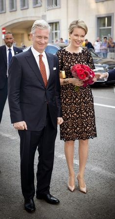 "MYROYALSHOLLYWOOD FASHİON:  King Philippe and Queen Mathilde attended the ""Bal National"", July 20, 2014, which proceeds the Belgian National Day."