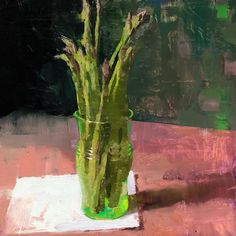 "Jon Redmond's Instagram post: ""Asparagus 10""x10"" oil on board"" Asparagus, Oil, Vegetables, Board, Instagram Posts, Studs, Vegetable Recipes, Planks, Veggies"