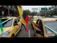Inicio la movilizacion de taxistas en Medellín, Colombia.