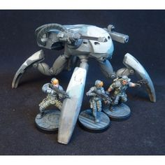 Spider Tank Mobile Turret for 28mm sci-fi wargames