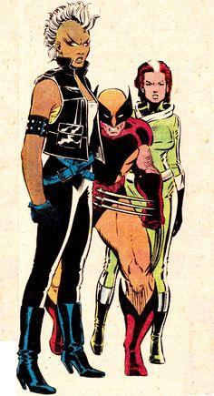 Storm, Wolverine & RogueBy John Romita Jr. (pencils), Dan Green (inks) & Glynis Wein (colors)UNCANNY X-MEN #179 (Mar. 1984)