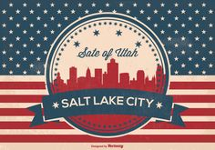 Retro Salt Lake City Skyline Illustration -   Here is an awesome and very patriotic retro style Salt Lake City, Utah skyline illustration. Enjoy!  - https://www.welovesolo.com/retro-salt-lake-city-skyline-illustration/?utm_source=PN&utm_medium=weloveso80%40gmail.com&utm_campaign=SNAP%2Bfrom%2BWeLoveSoLo
