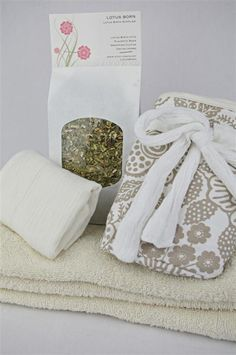 Lotus Birth Kit  Cotton Lined by LotusBorn on Etsy, $80.00