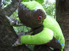 HOME DECOR Big Collectible FROG  soft stuffed by TALLhappyCOLORS