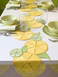Do It Yourself Project Make A Citrus Themed Table Runner Do It Yourself Project Make A Citrus Themed Table Runner Add Flavor To Your Kitchen And Dining Room With This Affordable Table Runner Citrus Table Runner Ultrasuede Probably Could Use Felt Too Diy 2019, Deco Studio, Diy Y Manualidades, Kitchen Dining Sets, Dining Rooms, Quilted Table Runners, Diy Décoration, Sell Diy, Sewing Table
