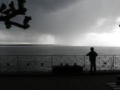 Bodensee with storm