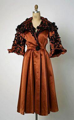 8c1d6435c0 Balenciaga Silk and wool evening coat 1948 Vintage Coat