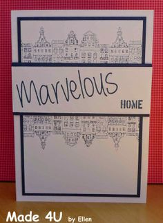 Stampinbacck.nl: kit 147 Buildings, Stamp, Houses, Homemade, Kit, Cards, Home Made, Stamps, Maps