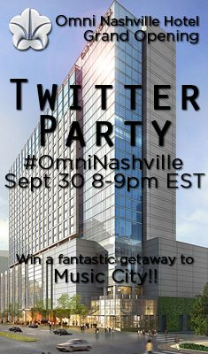 Come tweet #OmniNashville with us for your chance to win a getaway to the brand new Omni Nashville Hotel! Sept 30, 2013 8pEST Click thru for details... #Nashville #Sweepstakes #contest #omnihotels