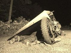 This is how you do it. Old Skool Motorcycle Camping