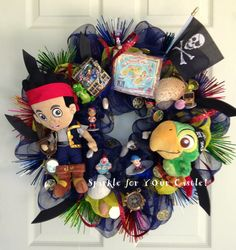 Hey, I found this really awesome Etsy listing at https://www.etsy.com/listing/194668918/jake-and-the-neverland-pirate-wreath