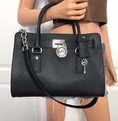 NWT Michael Kors Hamilton Back Saffiano Leather Satchel Shoulder Bag Purse #MichaelKors #ShoulderBag