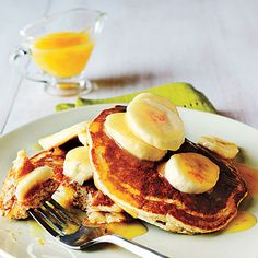 Whole-Wheat Buttermilk Pancakes with Orange Sauce Recipe