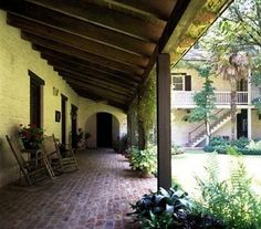 Porch designed by Louisiana architectural icon A. Hays Town.  Love his designs!!